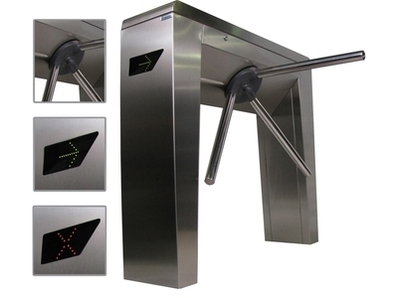 Tripod turnstile using RFID badge